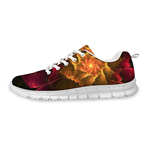 Running FOR Sneakers Dark a Women's Fashion U Red Shoes Breathable DESIGNS amp; Floral Men's zqrPz8