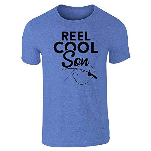 (Reel Cool Son Fishing Rod Fisherman Funny Heather Royal Blue L Short Sleeve T-Shirt)