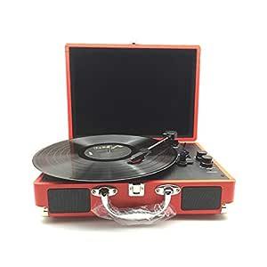 Altavoz Bluetooth Vintage Tocadiscos portátil vinilo de la ...