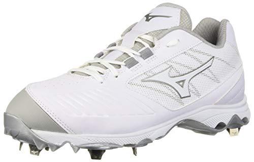 Mizuno Women's 9-Spike Advanced Sweep 4 Low Metal Softball Cleat Shoe, White 10 B US