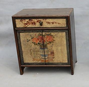 Nachttisch Chinese Furniture Nachttisch Kleiner Schrank Antik Handgemalt  Nachttischmöbeln Oriental Asiatischen Wohnzimmer Schlafzimmer Möbel Decor  Innen