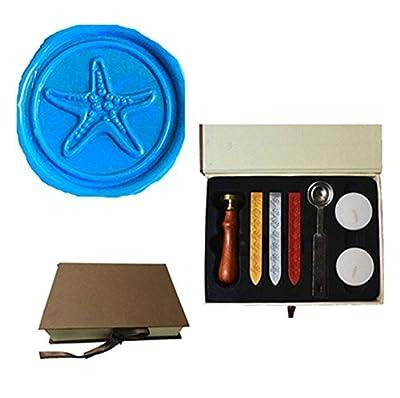 MDLG Vintage Starfish Custom Picture Logo Wedding Invitation Wax Seal Sealing Stamp Set Kit