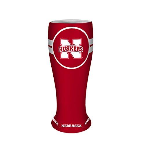 NCAA Nebraska Cornhuskers Collectible Ceramic Pilsner, 2.5-ounce, Red