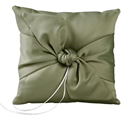 Ivy Lane Design Love Knot Ring Pillow, Sage
