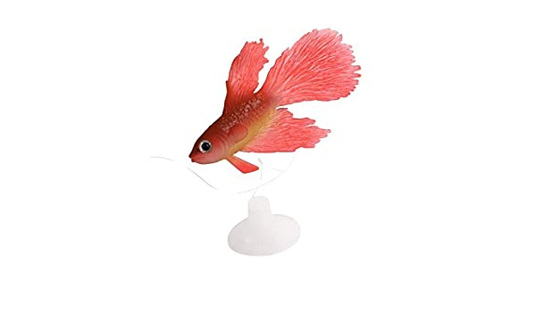 Amazon.com: eDealMax Acuario de silicona ventosa emulación Artificial pescado ornamento, Rojo: Pet Supplies