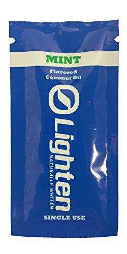 - Lighten Naturally Whiten 100% Organic Mint Coconut Oil Teeth Whitening 5 Day Sample Pack