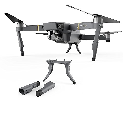 Price comparison product image RCmall PGYTECH New Landing Gear Leg Height Extender Protector Kit Replacement Grey for DJI Mavic Pro (Mavic Pro Landing Gear)