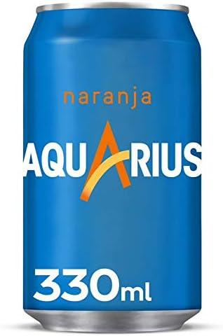 Aquarius Naranja - Bebida funcional con sales minerales, baja en calorías - lata 330 ml