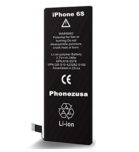 ORIGINAL BRAND NEW PHONEZUSA -3.82V [1715mAh] Replacement Batttery for iphone 6S Compatible with CDMA & GSM (Not For 6+ or 6S Plus) (For the: A1633, A1688 , A1700) 1 YEAR - New Original