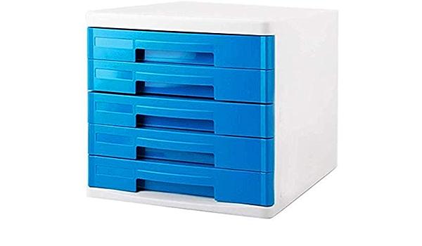 Color: White Blue Green Home Office Furniture Plastic File Cabinets Desktop Cabinet Storage Box Storage Box 5th Floor 27.53426 Color : A cm