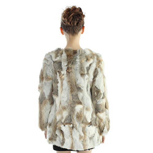 Vemolla Natural largas chaquetas invierno con manga piel real Conejo de abrigos Naturaleza mujeres de las la larga rrdxUqp
