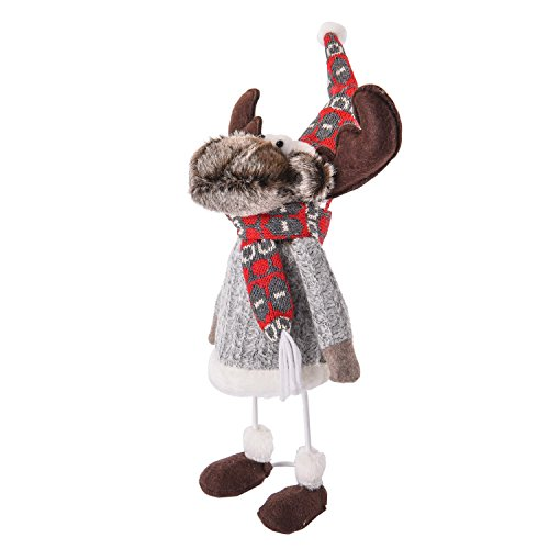 Youtube White Costume And Black Dance (Amazlab Cute Christmas Plush Dancing Reindeer Rudolph Standing Figurine with Spring, Splashing and Funny Christmas Gifts Home Holiday Decoration)