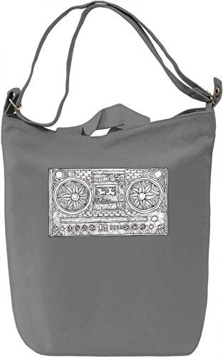 Casette player Borsa Giornaliera Canvas Canvas Day Bag| 100% Premium Cotton Canvas| DTG Printing|