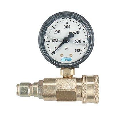 NorthStar Pressure Washer Pressure Gauge - 5000 PSI, 3/8in. Fitting by Valley Industries