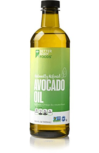 BetterBody Foods 100% Pure Avocado Oil Naturally Refined Cooking Oil, Non-GMO, 16.9 Ounce by BetterBody Foods
