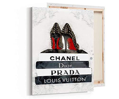 Fashion wall pop art print - Illustration - Fashion Books Shoes - Chic Glam Home Decor Vogue poster on Fine Art Canvas 1029