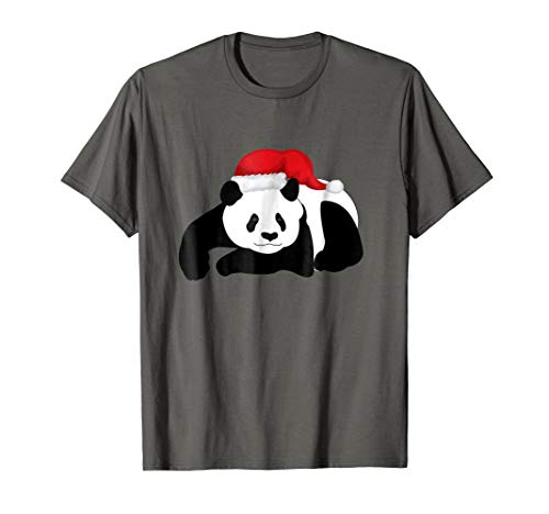 Cristmass Tree Shirts: Panda in Santa#039s Hat tShirt