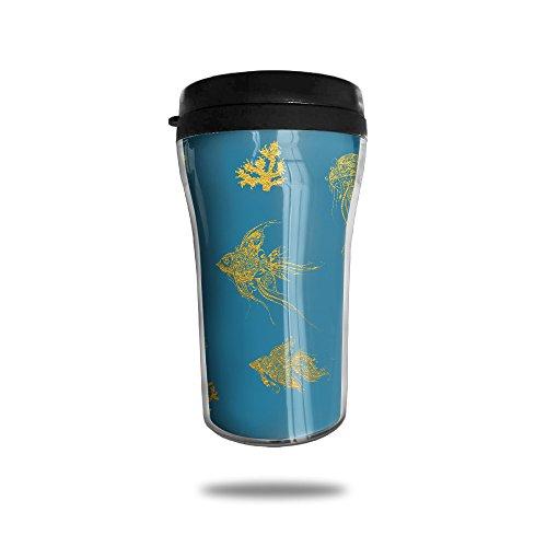 Patterned Marine Life Dolphin Vacuum Insulated Stainless Steel Travel Mug 8.5oz - Peony Coffee Grinder
