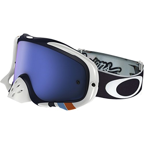 6b267f8013b Oakley Crowbar MX Troy Lee Designs Adult Off-Road Motorcycle Goggles  Eyewear - Corse White Black Ice Iridium One Size Fits All