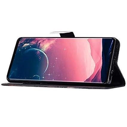 Uposao Kompatibel mit Samsung Galaxy A40 Handyh/ülle Bunt Muster Leder H/ülle Flip Schutzh/ülle Brieftasche Klapph/ülle Wallet Cover Bookstyle Tasche Case Magnet Kartenfach,Blau Mandala Blumen