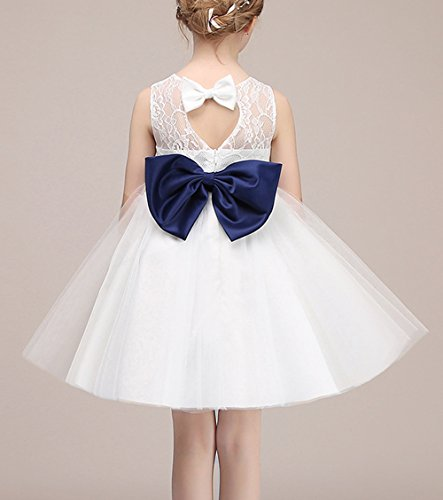 Erstkommunion Weiß für Izanoy Blumenmädchen Tutu Kleid Ballkleid Tüll wxqzz60BY