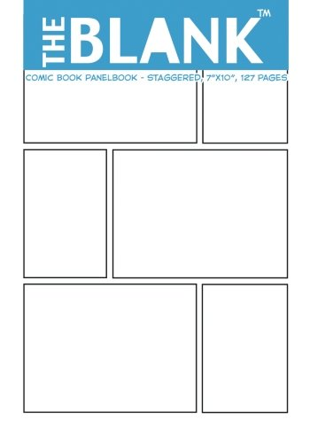 The Blank Comic Book Panelbook – Staggered, 7″x10″, 127 Pages