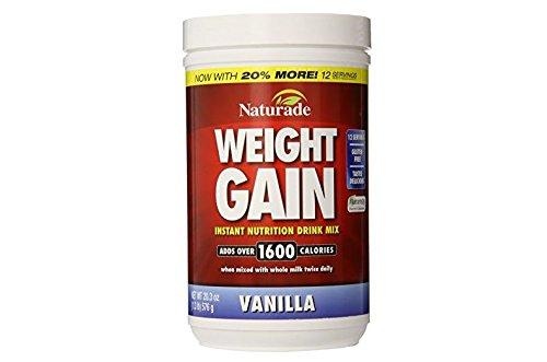 Naturade Gain de poids Nutrition instantanée Drink Mix, Vanille, 20,03 once