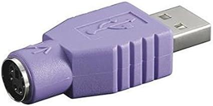 Nilox NX080500104 Adaptador de Cable USB 2.0 PS/2 Violeta - Adaptador para Cable (USB 2.0, PS/2, Male Connector/Female Connector, Violeta)