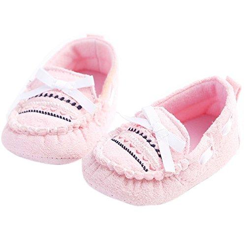 etrack-online Toddler Slip de algodón de niña en cuna suela suave antideslizante zapatos rosa rosa Talla:12-18months rosa