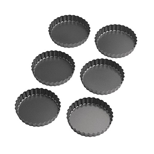 Wilton Perfect Results 4.75 Inch Round Tart/Quiche Pan, Set of 6 (Quiche Pan Round)