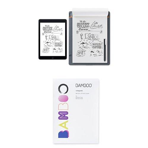 Wacom Bamboo Slate Smartpad, Large & A4 Notepad Paper by Wacom