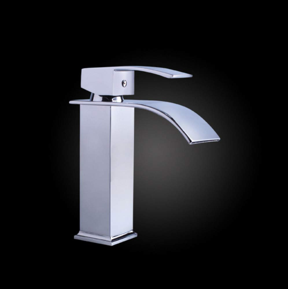 Xiujie Faucet Basin Faucet Hot and Cold Single Hole Simple Faucet Copper Unleaded Square High-Grade Water Heater