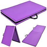 Custpromo 6′ x 24″ x 1.5″ Thick Two Folding Panel Gymnastics Mat Gym Fitness Exercise Mat