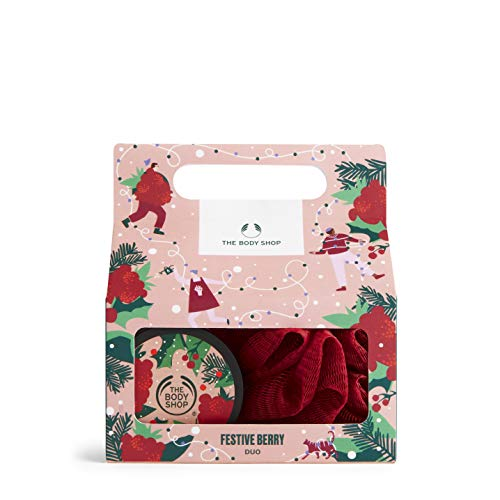 The Body Shop Festive Berry Duo- 2pc Gift Set, Includes Berry Body Care Treats