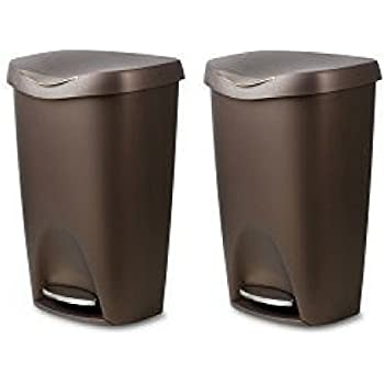 Amazon.com: Umbra Brim Large Kitchen Trash Can with ...