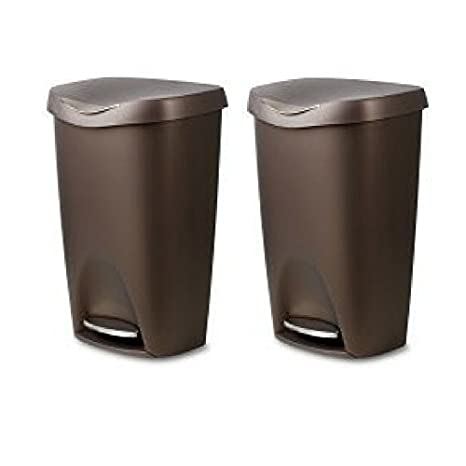 Amazon.com: Umbra Brim Large Kitchen Trash Can with ...