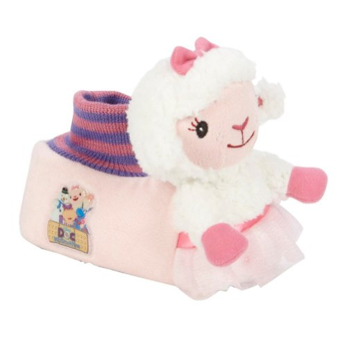 Disney Toddler Girls Doc McStuffins Lambie Slippers Lamb House Shoes L (9-10) -