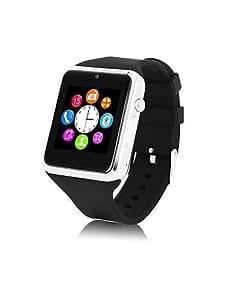 reloj de pulsera inteligente nuevo análogo de electrones banda de silicona bluetooth cámara de línea de rectángulo unisex&teléfono del , coffee