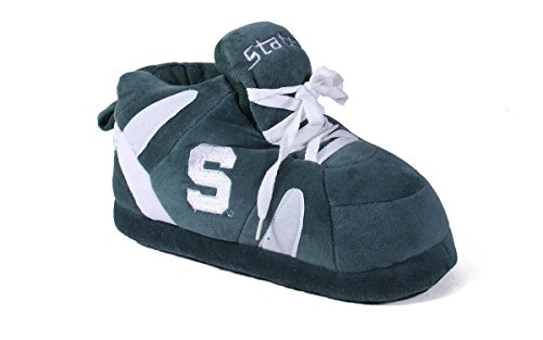 Michigan State Spartans Slippers (MSU01-3 - Michigan State Spartans - Large - Happy Feet Men's and Womens NCAA Slippers)