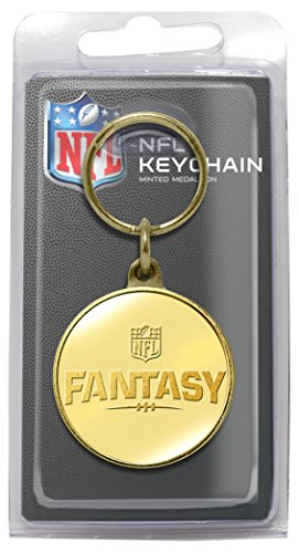 NFL Fantasy Football Bronze Coin Keychain, 8