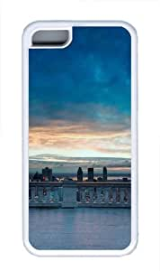 City TPU Silicone Case Cover for iPhone 5C White