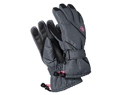 Hochwertiges Skihandschuhe für Mädchen Snowboardhandschuhe Größe: 4,5 farbe: Anthrazit-Pink Skihandschuhe Schneehandschuhe Winterhandschuhe