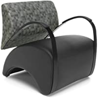 OFM 841-NCKL-PU606 Lounge Chair with Fabric Back and Pu Seat