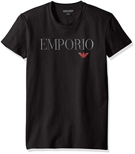 Emporio+Armani+Men%27s+Mega+Logo+Crew+Neck+T-Shirt%2C+Black%2C+Medium