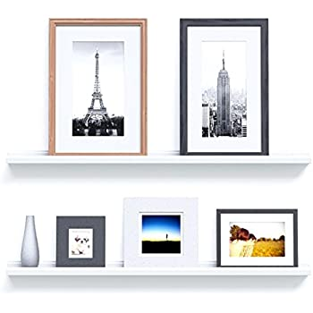 Modern Floating Display Ledges Wall Shelves For Living Room Decoration 46  Inches Long Set Of 2