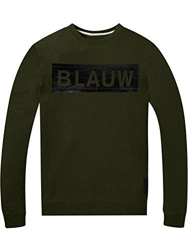 Green Sweat Fit Signature Regular Blauw Ams Soda Scotch Shirt amp; Homme Artwork 0j military Vert 1qXfaxXwOR