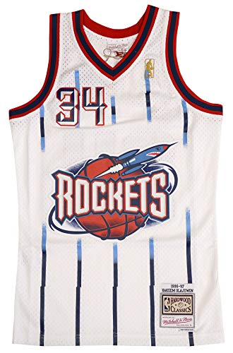Mitchell & Ness Hakeem Olajuwon Houston Rockets Swingman Jersey White (Small)