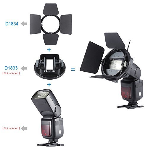 Andoer Four-leaf Universal Mount Barndoor Flash Light Photography Accessory for Nikon Canon Yongnuo Speedlight by Andoer (Image #3)