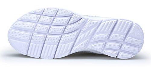 Corsa Basse Grigio Running Scarpe Casual Scarpe Confortable Ginnastica all'Aperto Sneakers KOUDYEN da Sportive Donna Fitness qw6HIXW4