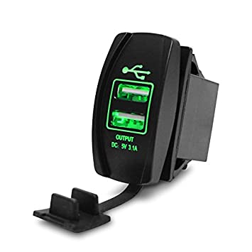 WARMTOWER - Cargador de Coche con Doble Puerto USB para ...